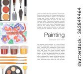 painting tools  brushes ... | Shutterstock . vector #363849464