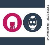 avatars round icons  girl and...