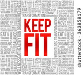 keep fit word cloud  health... | Shutterstock .eps vector #363858179