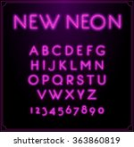 neon font type alphabet.... | Shutterstock .eps vector #363860819