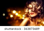 beauty model woman with... | Shutterstock . vector #363873689
