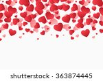 falling hearts  valentine's day ... | Shutterstock .eps vector #363874445