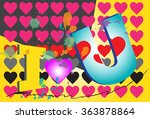 i love you text design | Shutterstock . vector #363878864