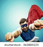 funny superman  lots of... | Shutterstock . vector #363884225