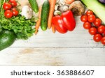 fresh organic vegetables over... | Shutterstock . vector #363886607