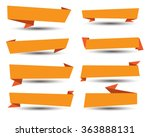 banner ribbon vector set | Shutterstock .eps vector #363888131