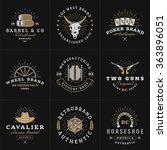 set of hipster vintage labels ... | Shutterstock .eps vector #363896051