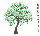 tree illustration  ... | Shutterstock .eps vector #363897887
