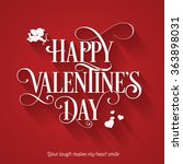 valentines day holiday card on... | Shutterstock .eps vector #363898031