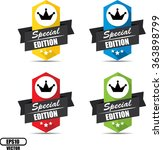 special edition label and sign  ... | Shutterstock .eps vector #363898799
