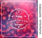 happy valentines day retro... | Shutterstock .eps vector #363905831