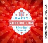 happy valentines day retro... | Shutterstock .eps vector #363907265