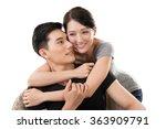 portrait of attractive young... | Shutterstock . vector #363909791