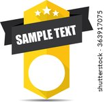 sample text yellow label and...   Shutterstock . vector #363917075