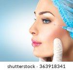 beautiful woman gets beauty... | Shutterstock . vector #363918341