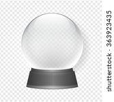 empty snow globe vector | Shutterstock .eps vector #363923435