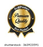 golden premium quality icon.... | Shutterstock .eps vector #363923591