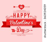 valentines day illustrations... | Shutterstock .eps vector #363924059