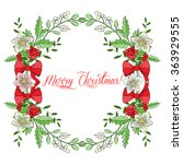 background with christmas... | Shutterstock . vector #363929555