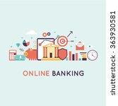 on line banking  on line... | Shutterstock .eps vector #363930581