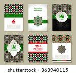 banners set of islamic.  uae... | Shutterstock .eps vector #363940115