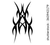 tattoo tribal vector designs.... | Shutterstock .eps vector #363942179