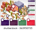 illustration of info graphic... | Shutterstock .eps vector #363950735