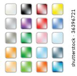 web buttons collection  vector... | Shutterstock .eps vector #36396721