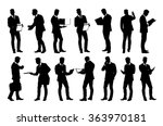 set of detailed businessman in... | Shutterstock .eps vector #363970181