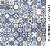 gorgeous floral patchwork... | Shutterstock . vector #363973265
