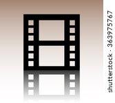 film icon. black illustration... | Shutterstock . vector #363975767