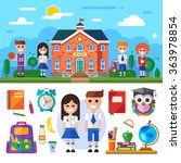 welcome to school  middle... | Shutterstock .eps vector #363978854