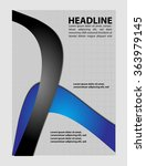 vector design flyer black... | Shutterstock .eps vector #363979145