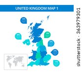united kingdom map template 1 | Shutterstock .eps vector #363979301