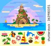 fantastic summer paradise... | Shutterstock .eps vector #363980351