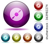 set of color dvd glass sphere...