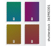 abstract colorful flyer or book ... | Shutterstock .eps vector #363982301