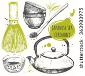 chinese ethnic and national tea ... | Shutterstock .eps vector #363983975