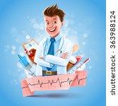 doctor banner health care | Shutterstock .eps vector #363988124