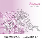 greeting card with roses ... | Shutterstock .eps vector #363988517