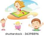 illustration of kids on white | Shutterstock .eps vector #36398896