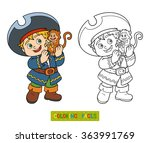 coloring book for children ... | Shutterstock .eps vector #363991769