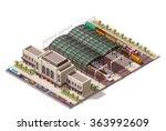 vector isometric infographic... | Shutterstock .eps vector #363992609