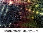 computers circuitboard ... | Shutterstock . vector #363993371
