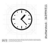 vector clock icon. vector time... | Shutterstock .eps vector #363994511
