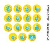 hands icons set 7   Shutterstock .eps vector #363998621