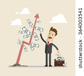 businessman and money tree. a... | Shutterstock .eps vector #364003541