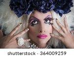 drag queen with spectacular... | Shutterstock . vector #364009259