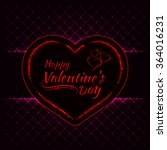 happy valentines day pink... | Shutterstock . vector #364016231