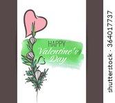 vector vintage greeting card ... | Shutterstock .eps vector #364017737